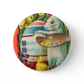 Easter Bunny Artist Button button