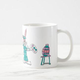 Easter Bunny Artist Classic White Coffee Mug