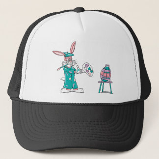 Easter Bunny Artist Trucker Hat