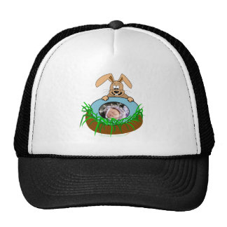Easter Bunny Baby Announcement Photo Template Trucker Hat
