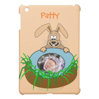 Easter Bunny Baby Announcement Photo Template iPad Mini Covers