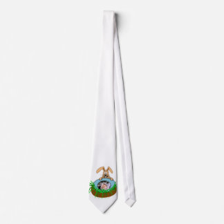 Easter Bunny Baby Announcement Photo Template Neck Tie