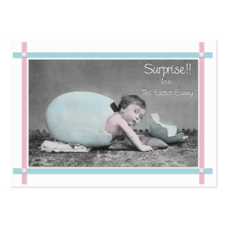 Easter Bunny  Baby on the way announcement Large Business Cards (Pack Of 100)