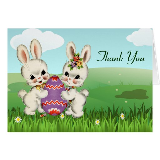 easter bunny baby shower thank you notes greeting card
