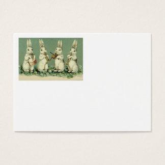 Easter Bunny Band Drum Trumpet Violin Shamrock Business Card