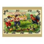 Easter Bunny Baseball Vintage Postcard