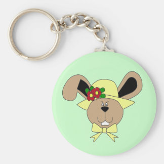 Easter Bunny Basic Round Button Keychain