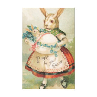 Easter Bunny Basket Baby Forget Me Not Canvas Print