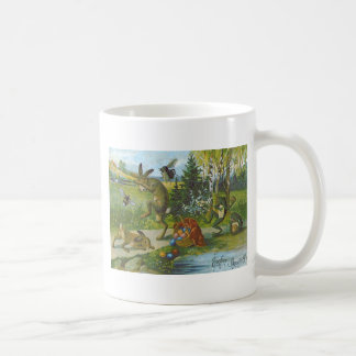 Easter Bunny Basket Colored Egg Frog Coffee Mug