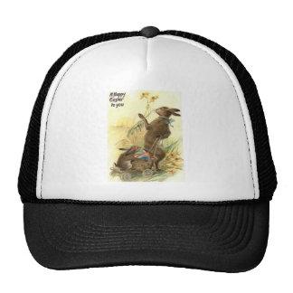 Easter Bunny Basket Colored Egg Sun Flower Field Trucker Hat