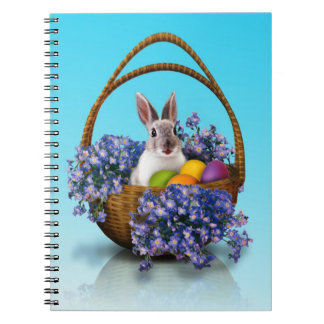 Easter Bunny Basket Spiral Notebook