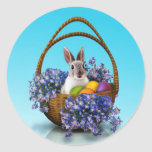 Easter Bunny Basket Stickers