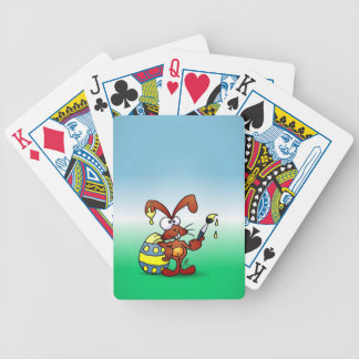 Easter Bunny Bicycle Playing Cards
