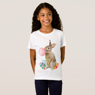 Easter Bunny Blowing Bubble Gum Eggs T-Shirt