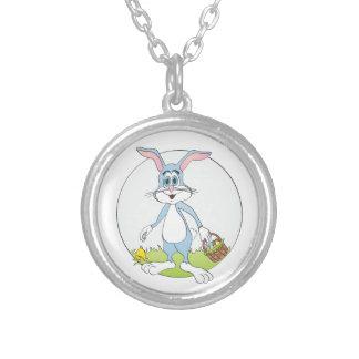 Easter Bunny Blue Rabbit Cartoon Jewelry