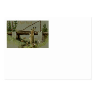 Easter Bunny Bridge Forest Large Business Cards (Pack Of 100)
