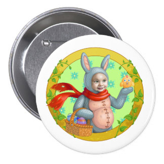 Easter Bunny Pinback Buttons