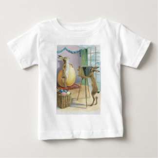 Easter Bunny Camera Photography Easter Colored Egg Baby T-Shirt