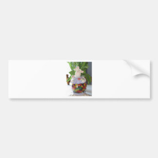 Easter Bunny Candy Jar Bumper Sticker