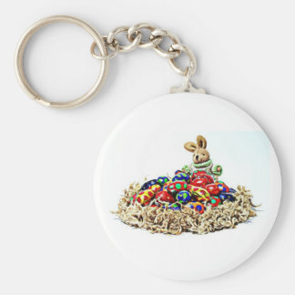Easter Bunny Candy Nest Keychain