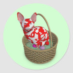 Easter Bunny Cat Classic Round Sticker