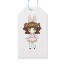 Easter Bunny Chibi Girl Gift Tags