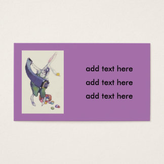 Easter Bunny Chick Basket Colored Eggs Business Card