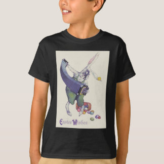 Easter Bunny Chick Basket Colored Eggs T-Shirt