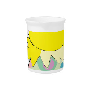 Easter Bunny Chick Beverage Pitcher