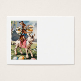 Easter Bunny Chick Colored Painted Egg Goat Business Card