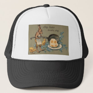 Easter Bunny Chick Cook Chef Egg Forget Me Not Trucker Hat
