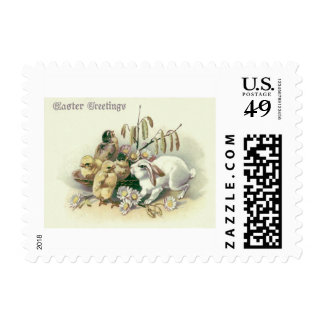Easter Bunny Chick Daisy Postage