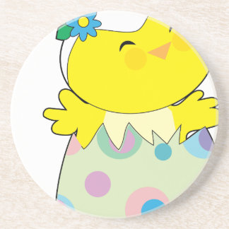 Easter Bunny Chick Drink Coaster