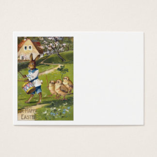 Easter Bunny Chick Drum Shamrock Farm Business Card
