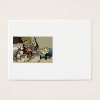 Easter Bunny Chick Egg Wagon Forget Me Not Business Card