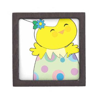 Easter Bunny Chick Keepsake Box