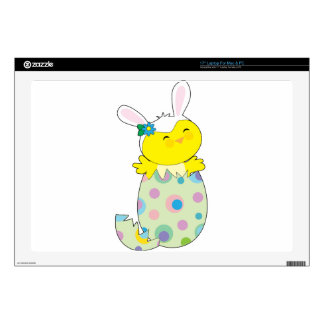 Easter Bunny Chick Laptop Skins