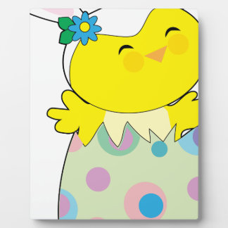Easter Bunny Chick Plaque