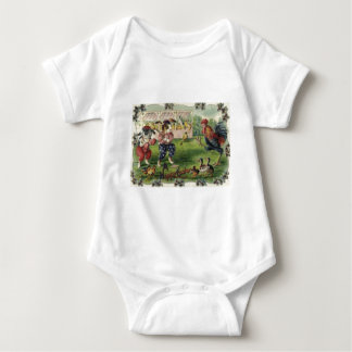 Easter Bunny Chick Rooster Forget Me Not Baseball Baby Bodysuit