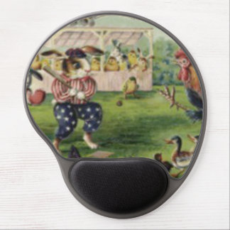 Easter Bunny Chick Rooster Forget Me Not Baseball Gel Mouse Pad