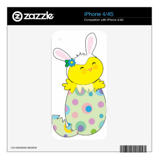 Easter Bunny Chick Skin For The iPhone 4