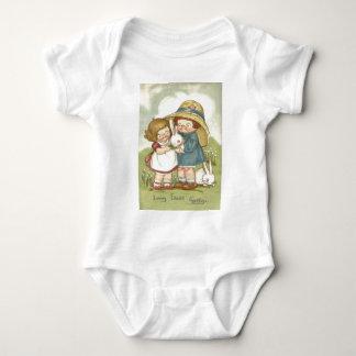 Easter Bunny Children Flower T-shirt
