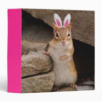 "Easter Bunny Chipmunk 1.5"" Photo Album 3 Ring Binder"