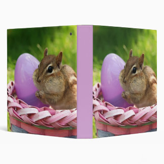 "Easter Bunny Chipmunk 1"" Photo Album 3 Ring Binder"