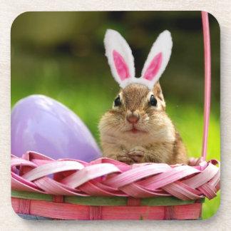 Easter Bunny Chipmunk Drink Coaster