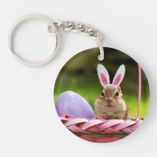 Easter Bunny Chipmunk Acrylic Keychain