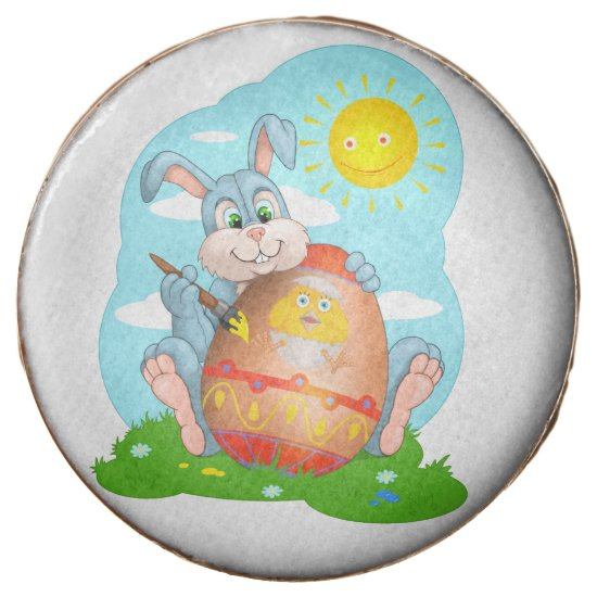 Easter bunny chocolate dipped oreo