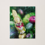 Easter bunny chocolate puzzle