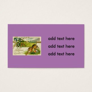 Easter Bunny Colored Egg Church Business Card