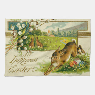 Easter Bunny Colored Egg Church Kitchen Towel
